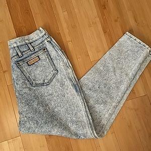 80s acid wash Gitano jeans